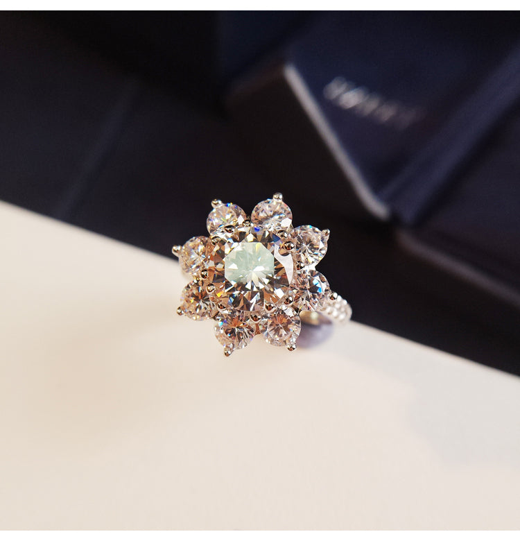 Sunflower by Harry Winston, Large Diamond Ring cheap best price engagement rings wedding