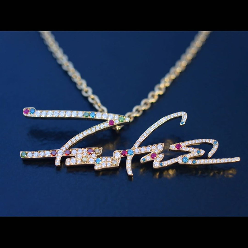 FUTURA SIGNATURE NECKLACE UNIVERSE UNKLE futura pendant necklace chain