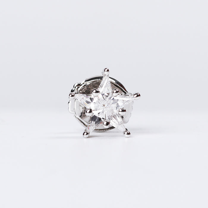 eyefunny star diamond stud earring white gold yellow gold farfetch