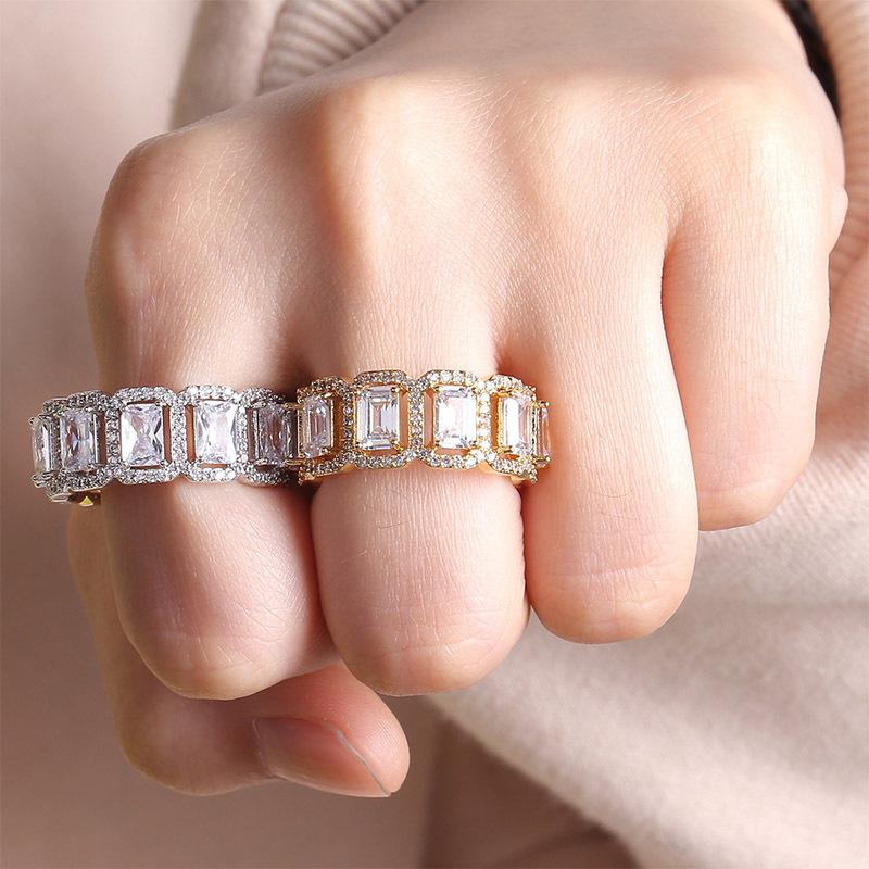 halo rectangle eternity engagement ring kylie jenner travis gifted diamond ring
