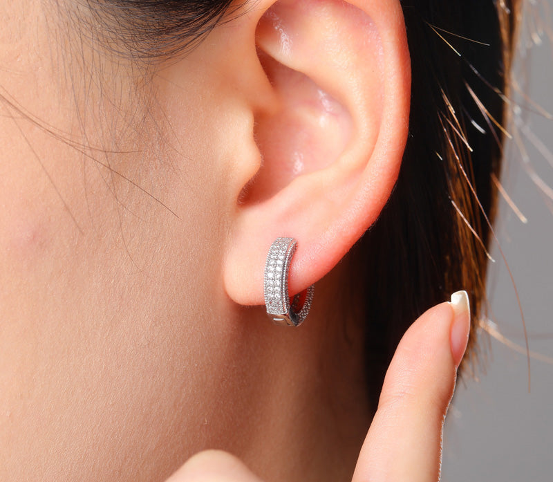 16mm two row fully iced hoop earrings ifandco shopgld high end luxury jewelry diamond