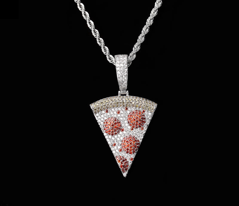 icebox pizza ifandco penant necklace chin cuban links tennis links diamond buy cheap