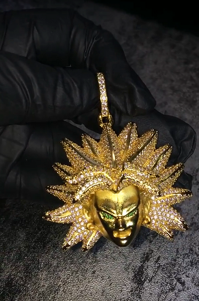 Custom Diamond Broly Necklace And Pendant For Dbz Dragon