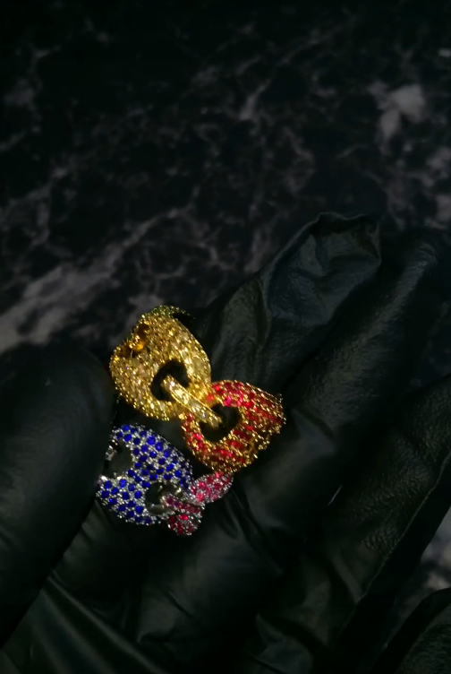 gucci link ring ifandco lil vert drake Affordable hip hop jewelry