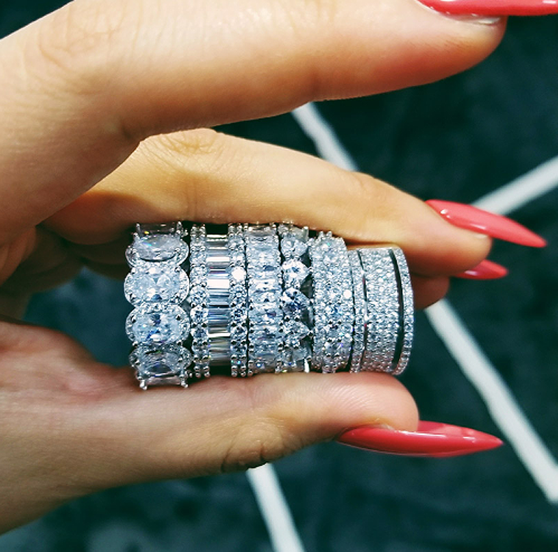Kylie Jenner signature eternity band ring in oval