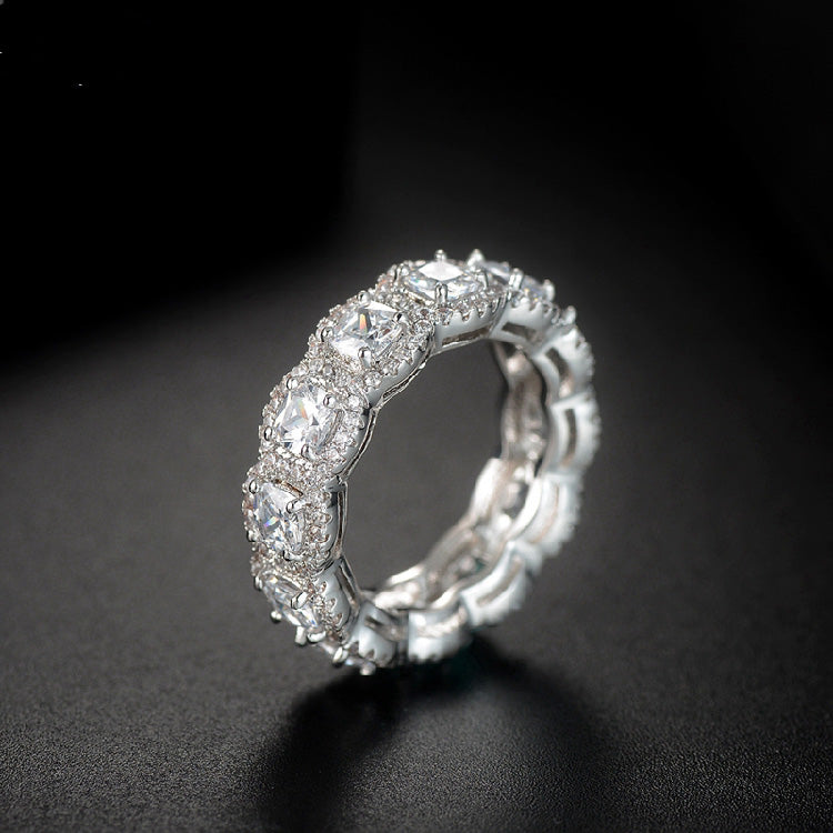 Kylie Jenner signature eternity band ring in square