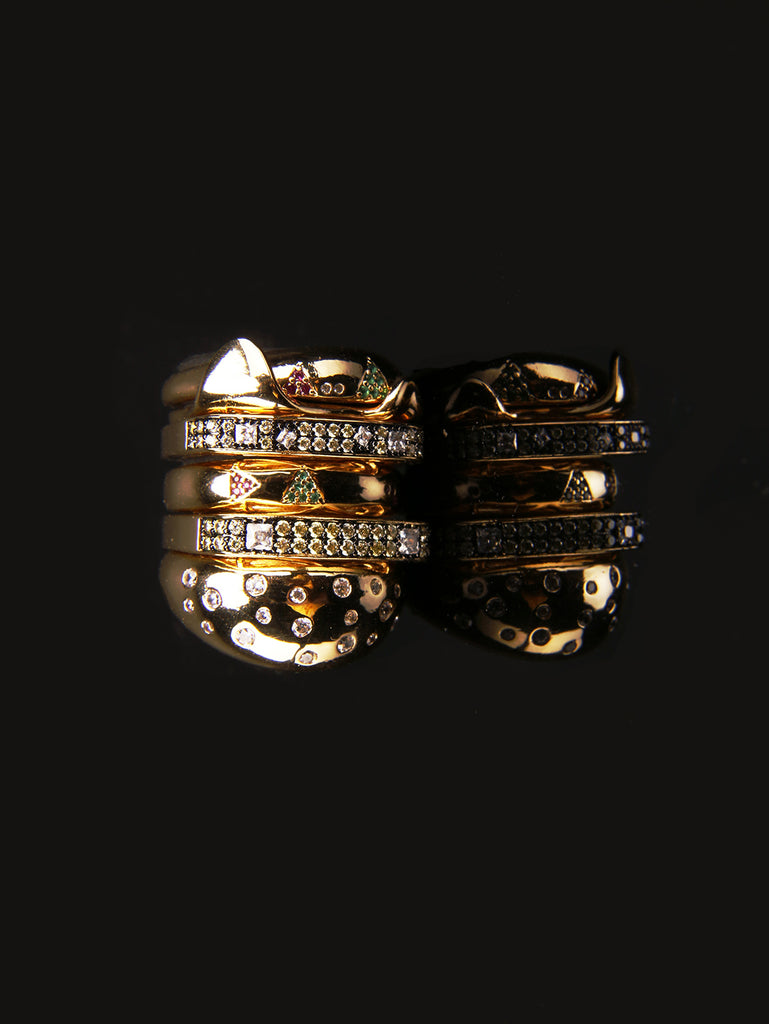 hamburger ring as seen on Nigo in multicolored vvs diamond ifandco