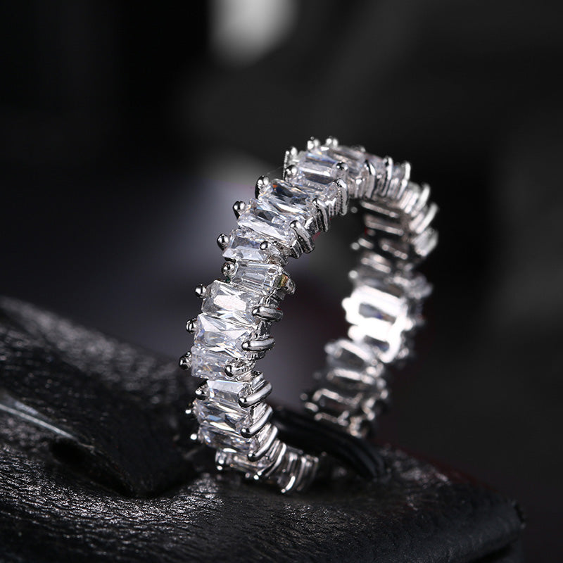 Diamond Baguette Ring MEN RING jewelry affordable hip hop travis scott