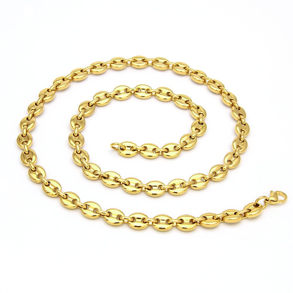 plain solid gucci link 8mm necklace chain bracelet white gold yellow gold affordable hip hop jewelry shopgld