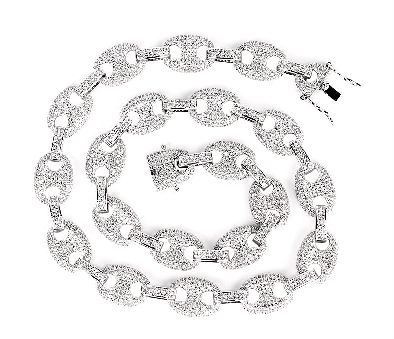 gucci link chain 12mm diamond necklace bracelet affordable jewelry lifetime guarantee shopgld