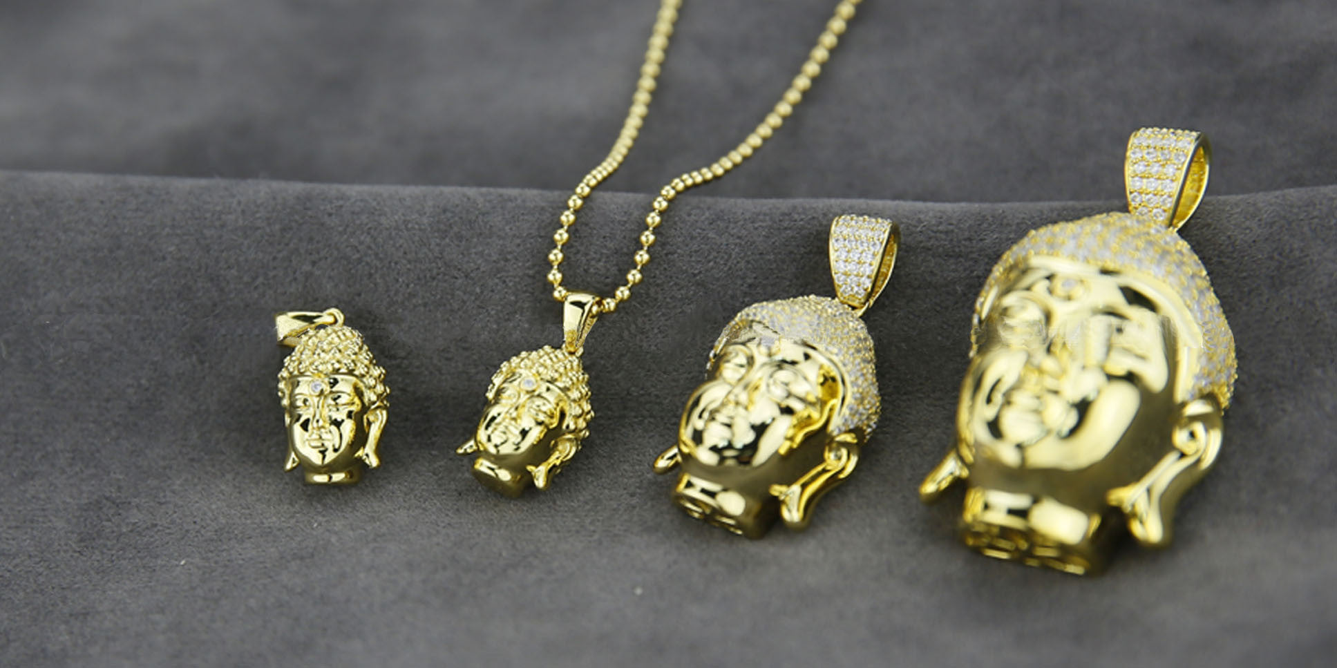 Buddha pendant & necklace chain