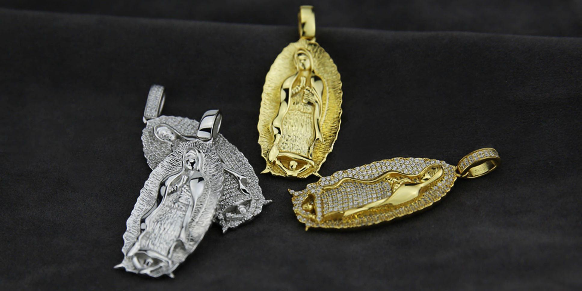 Lady of Guadalupe Virgin Mary pendant necklace and chain