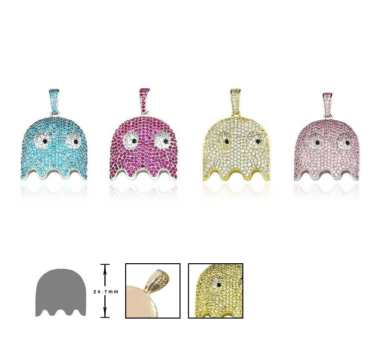ghost pacman pendant necklace ifandco affordable jeweler