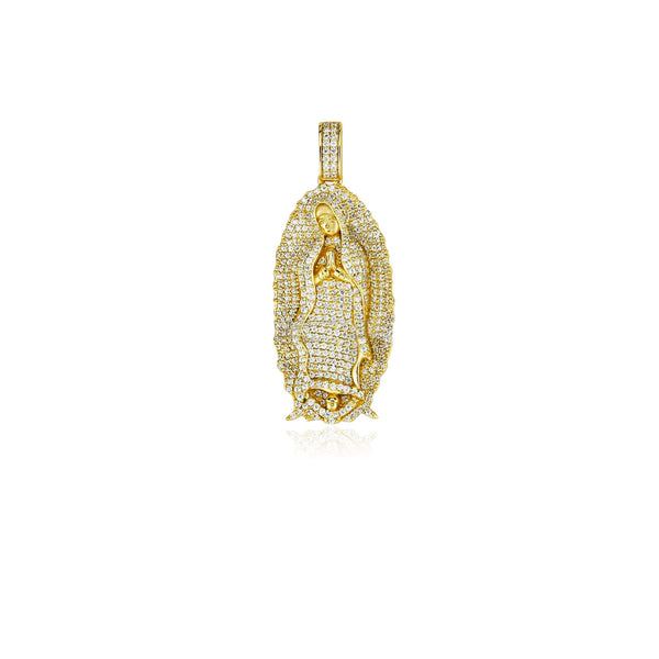 Lady of Guadalupe virgin Mary pendant full diamond with chain necklace