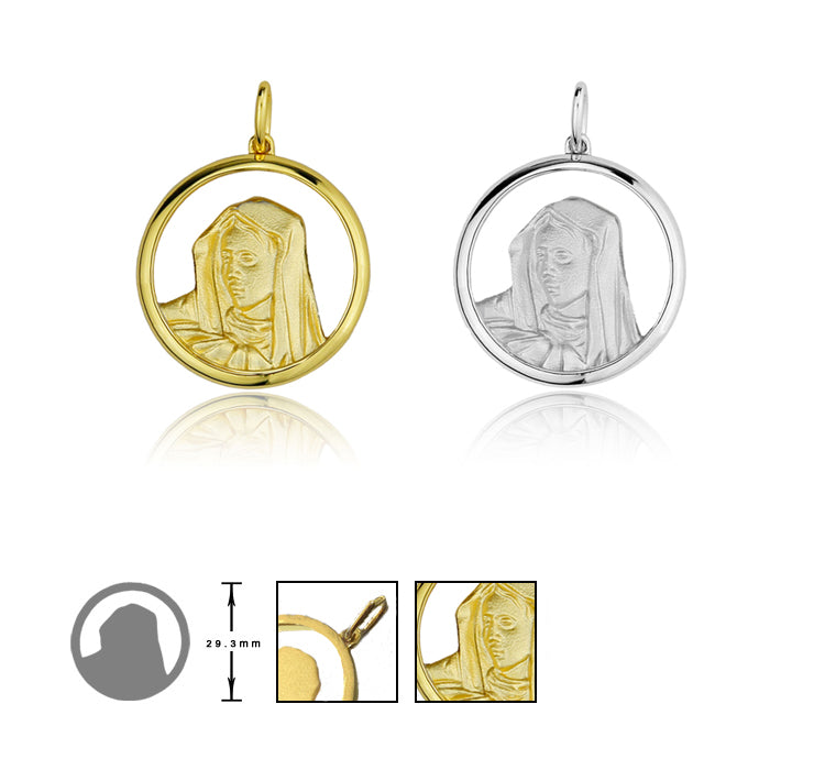 Mirco Virgin Mary MEDALLION ifandco pendant necklace free chain hip hop