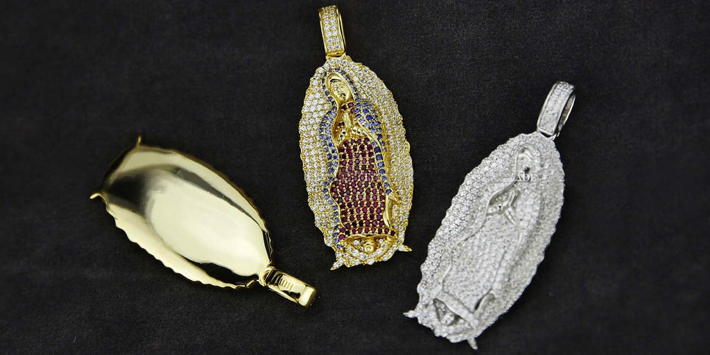Lady of Guadalupe virgin Mary pendant & necklace chain