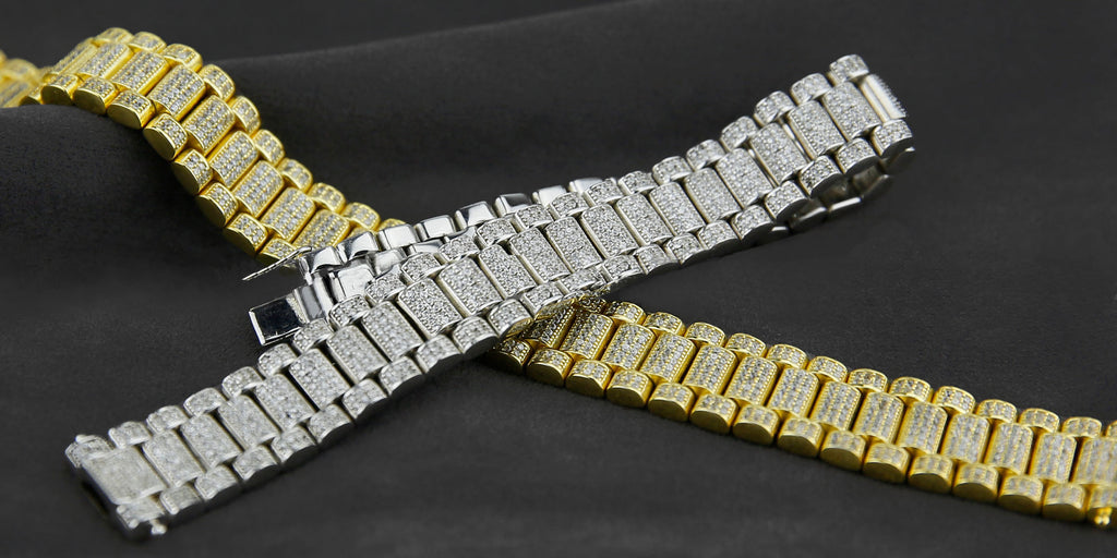 Iced out Presidential bracelet Gold