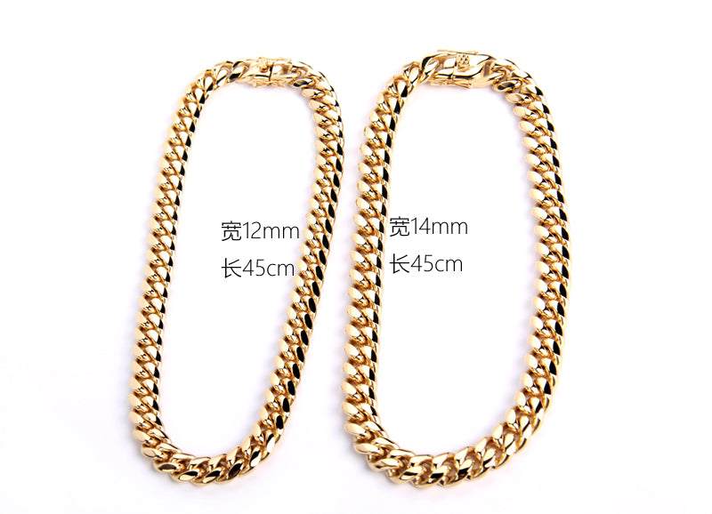 cuban link ifandco chain necklace shopgld