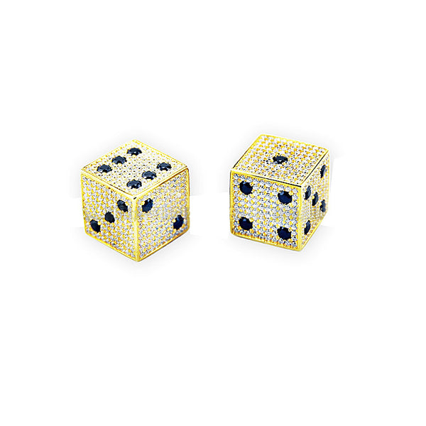 18k Gold Diamond Dice Bijouterie Gonin