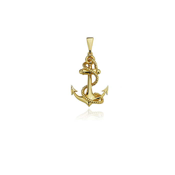Yellow Gold Anchor Pendant