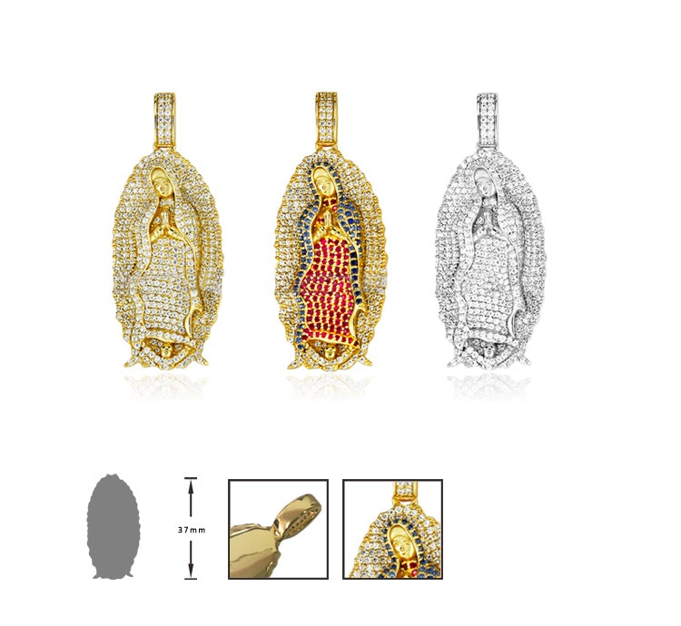Virgin Mary pendant necklace chain