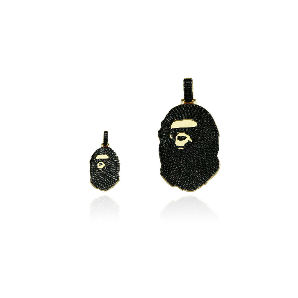 micro bape and bape necklace pendant chain