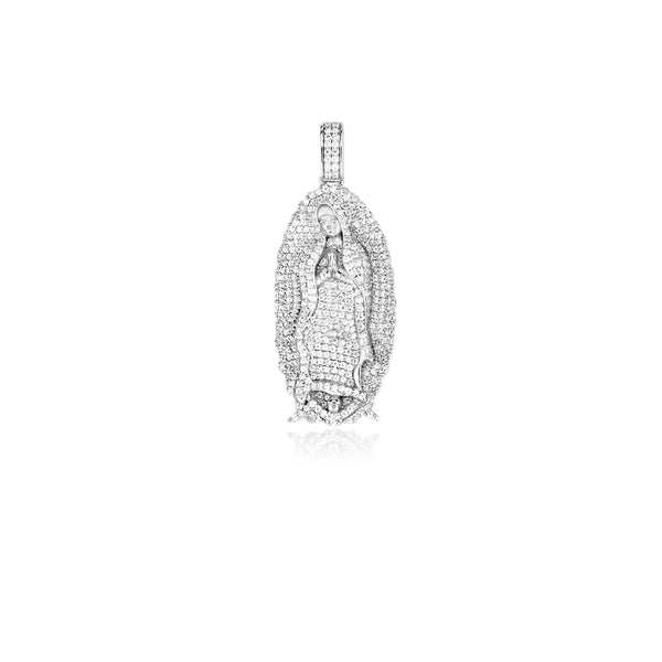 Virgin Mary pendant necklace chain silver