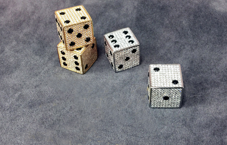 18k Gold Diamond Dice