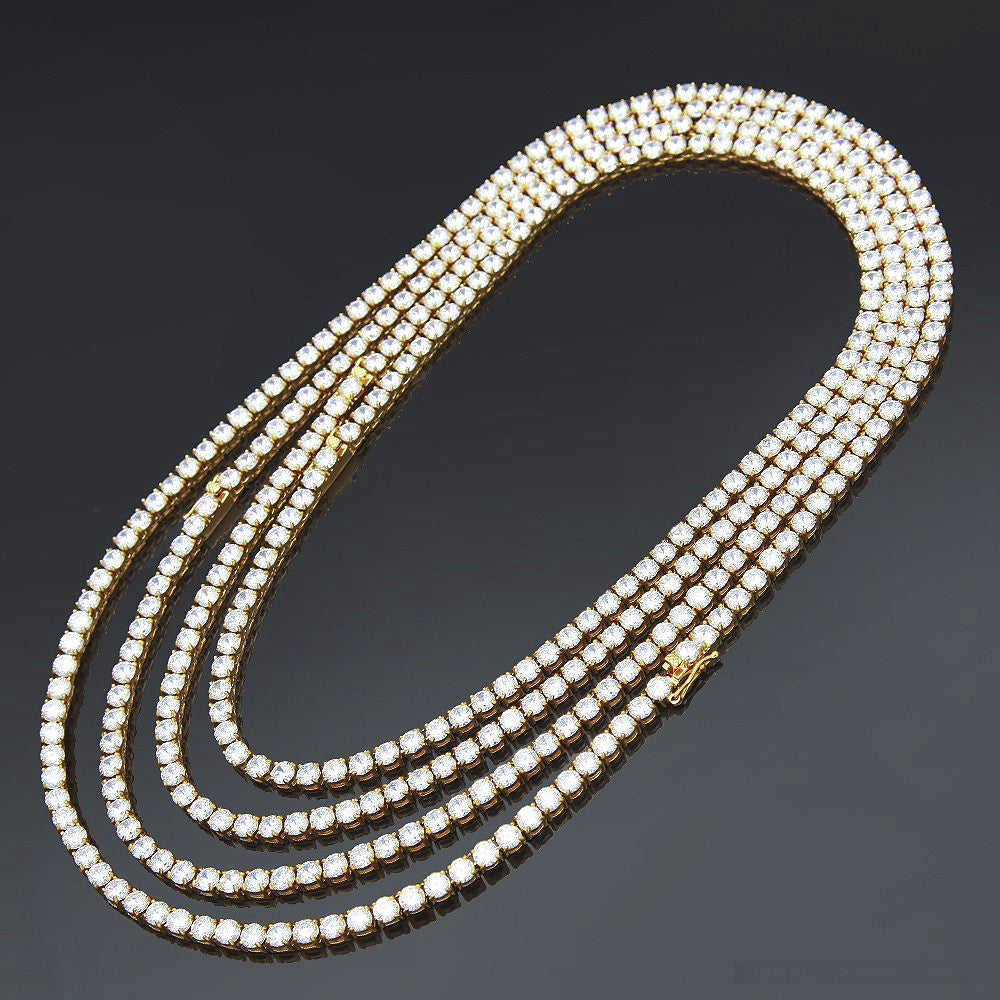 necklace tennis vvs layered the three gld diamond lovely of shop