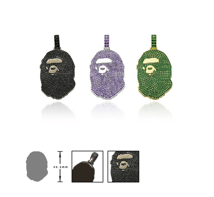 bape necklace green camo