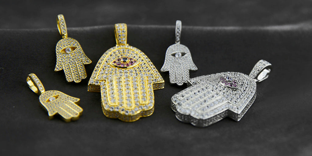 Hamsa pendant & necklace free matching chain included ifandco
