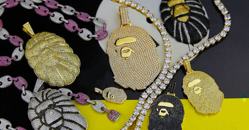 Bathing ape Bape Necklace Pendant as seen on travis scott nigo and Pharrell