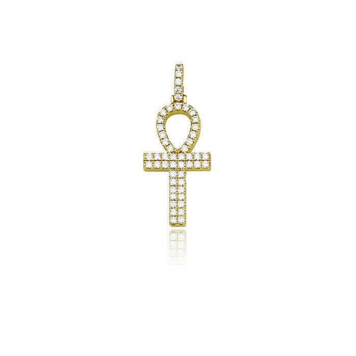 ankh bold 30mm gold pendant