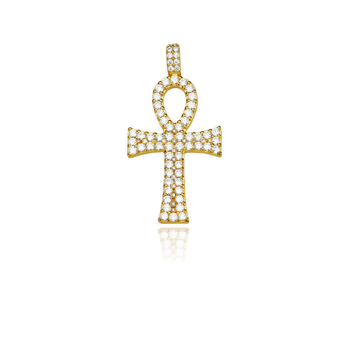 ankh bold large gold pendant 53mm