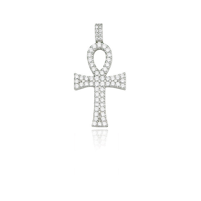 ankh bold large silver pendant 53mm