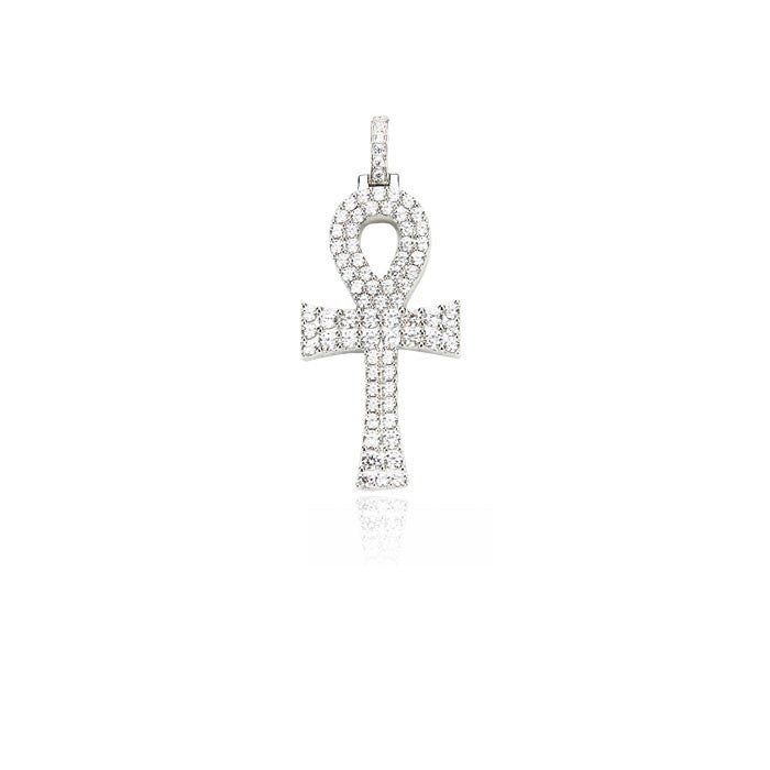 Ankh bold pendant necklace chain diamond affordable hip hop