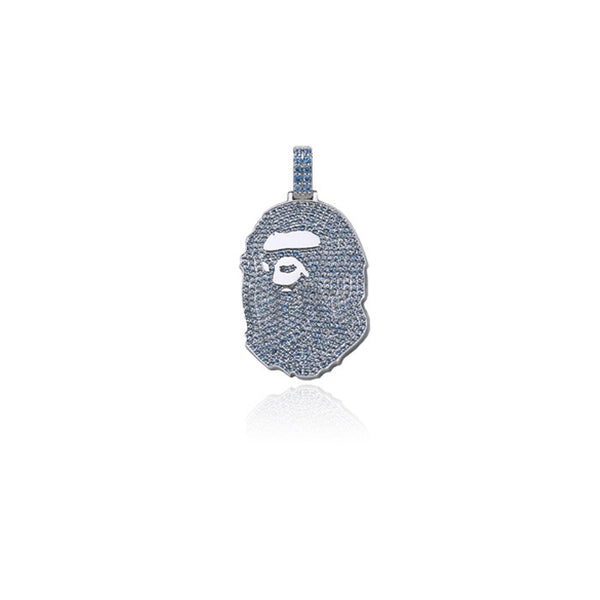 bape bathing ape head pendant blue