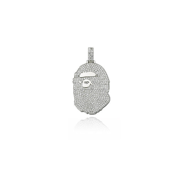 bape bathing ape head pendant silver