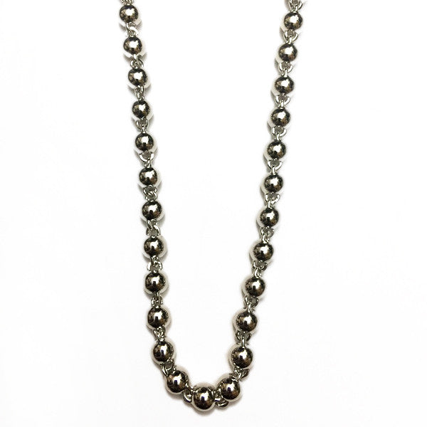beaded chain 8mm silver