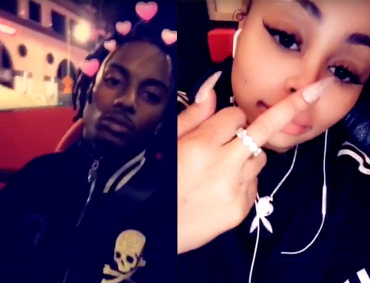 playboi carti playboy bunny upside down pendant necklace chain as seen on blac chyna dating snapchat
