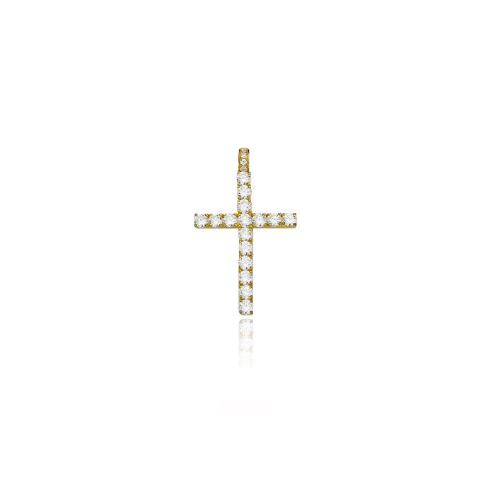 cross large gold dami diamonds pendant