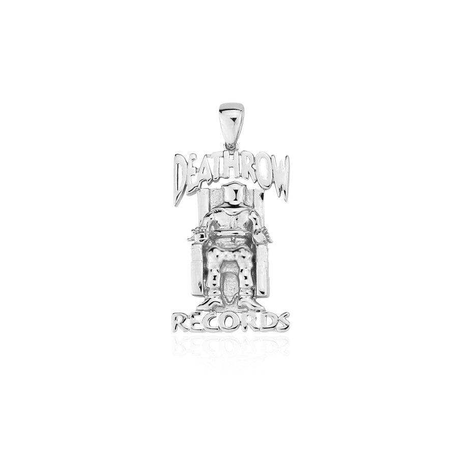 Tupac death row records pendant with necklace chain in silver daz dillinger shows original death row aloadofball Choice Image
