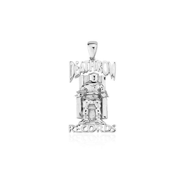 Death row records pendant with free necklace silver