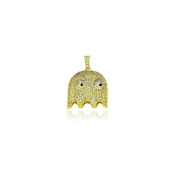 ghost clyde full yellow gold pendant diamonds