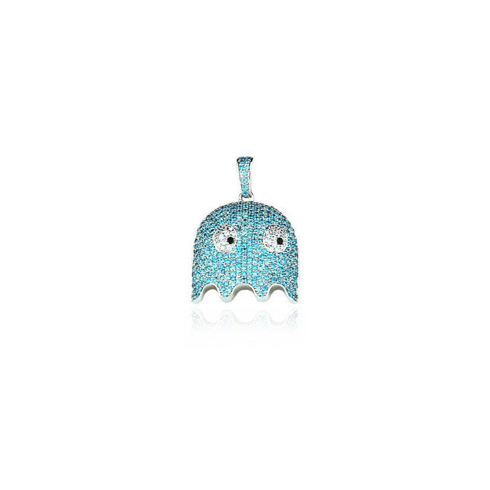 ghost inky pendant silver diamonds