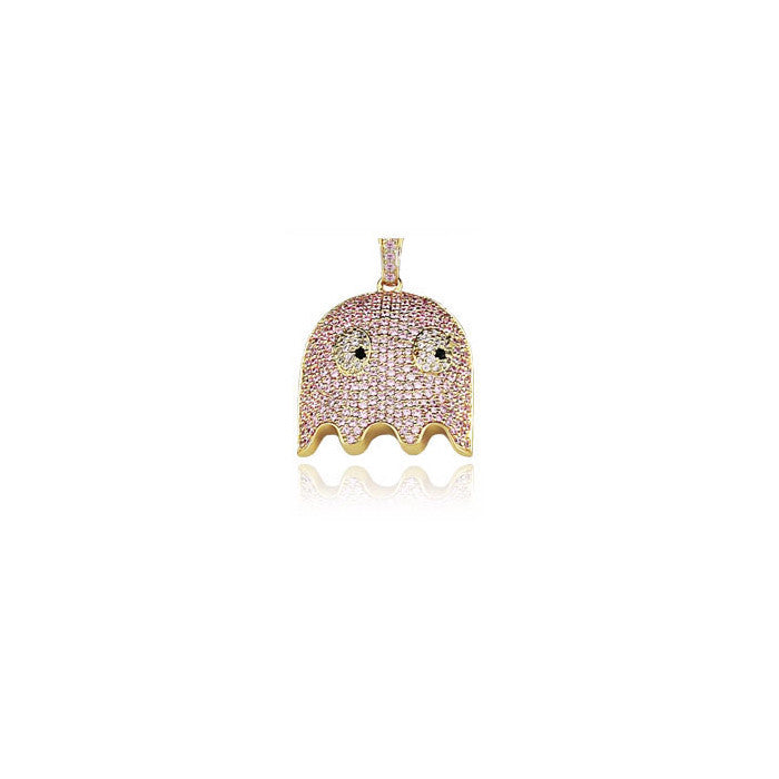 ghost pinky pendant diamonds gold