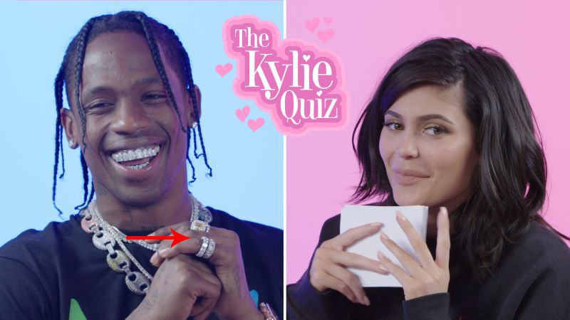 Kylie Jenner Travis Scott GQ quiz eternity ring kylie ring diamond travis scott ring jewelry