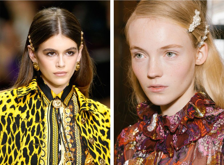 versace runway micro pave vogue trend Get ready for the 90s hair clip revival in 2018