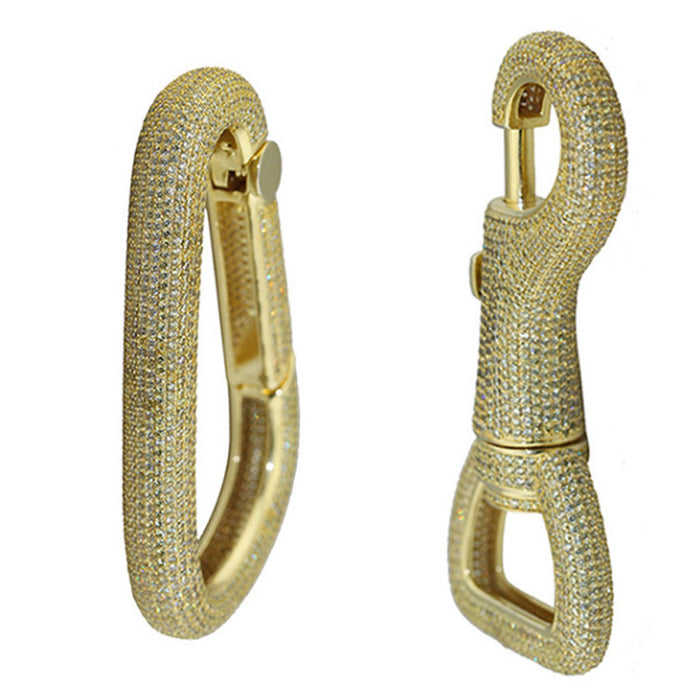 Iced out carabiner diamond keychain Pharrell
