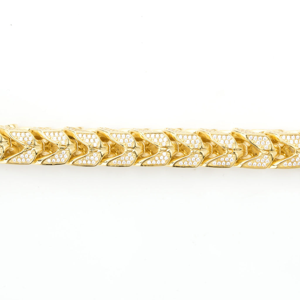 Iced Out Franco Bracelet 10mm